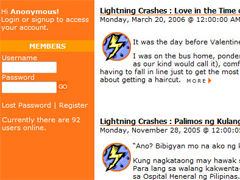 Lightning Crashes in Peyups.com (2006)